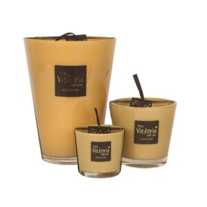 From victoria with love glossy light brown collection kaars candle
