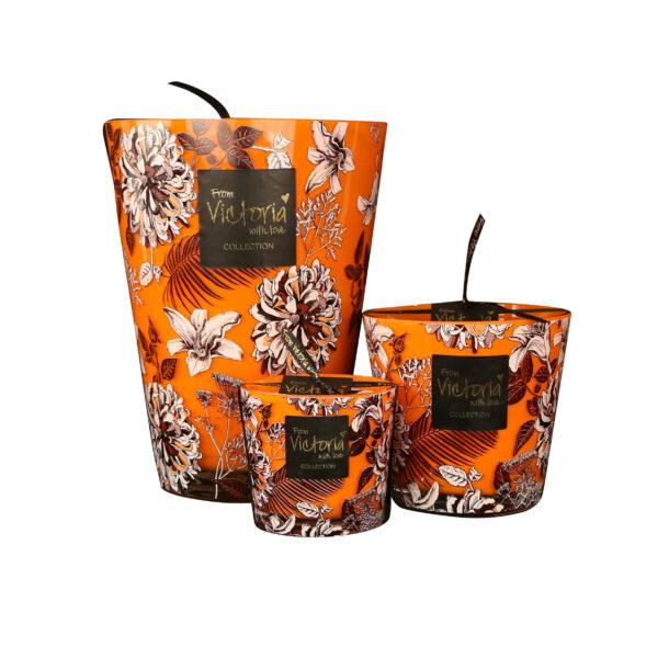 Kaarsen candle kerze luxe online orange flower